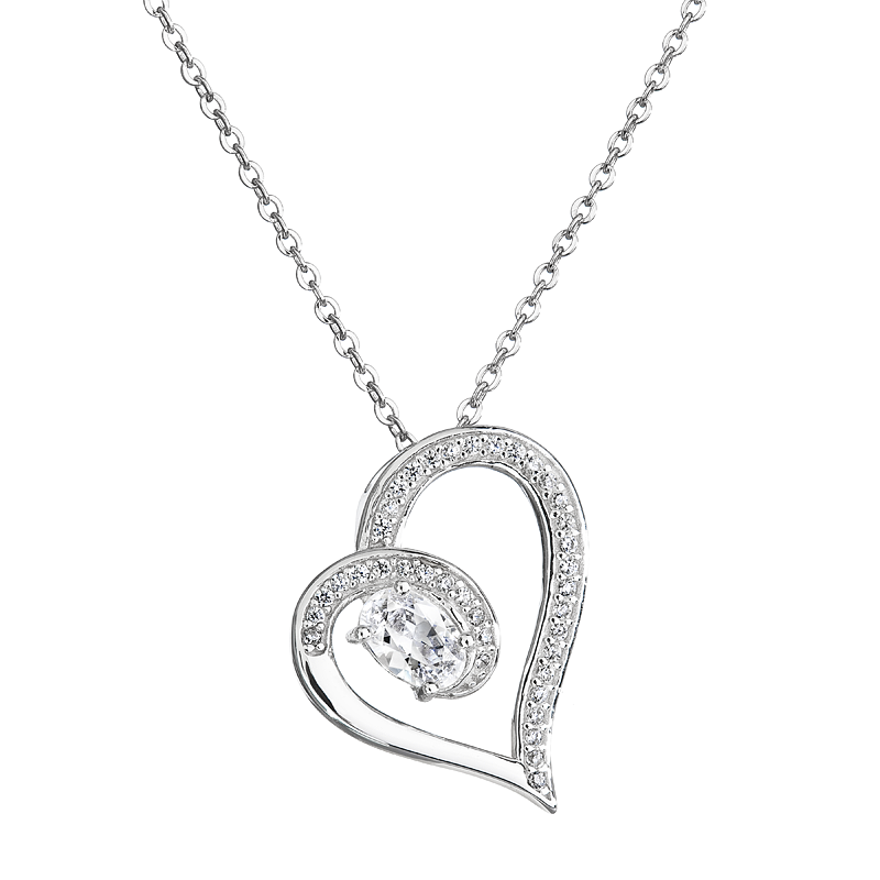 Šperky pro tebe Stříbrný přívěsek - Věčná láska SP02960C