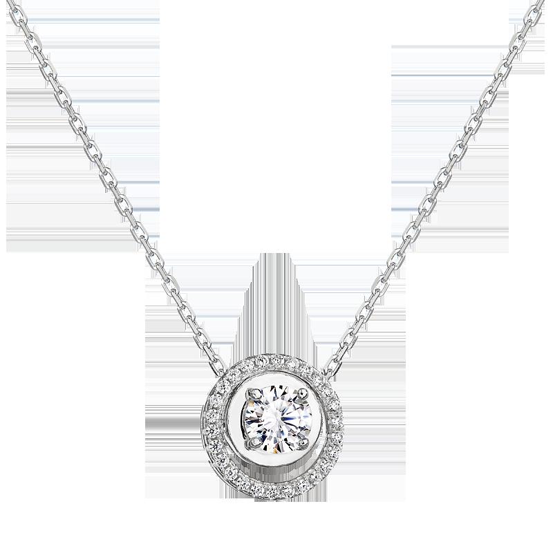 Šperky pro tebe Stříbrný přívěšek 2v1 – Magický kruh s bílými zirkony