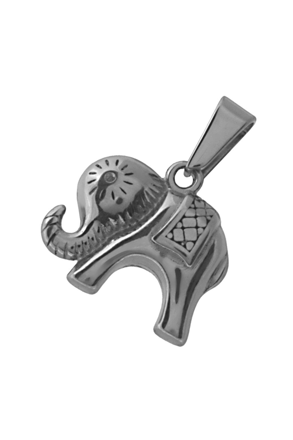 Skalimar Přívěsek z chirurgické oceli SLON PRO ŠTĚSTÍ 313821
