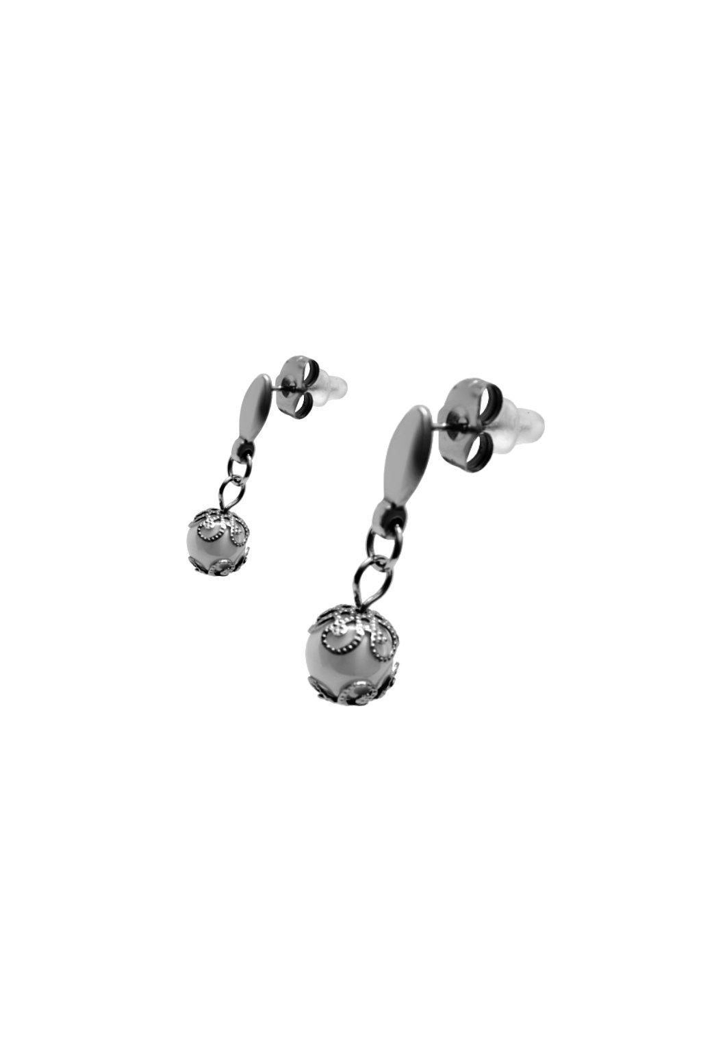Skalimar Náušnice z chirurgické oceli KERAMICKÉ 614091/2