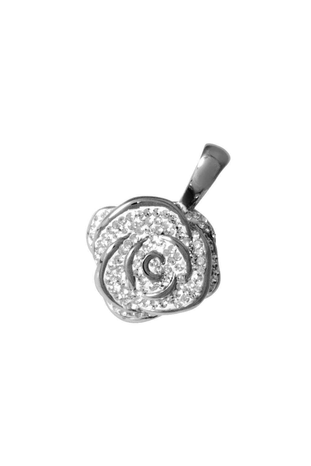 Skalimar Přívěsek z chirurgické oceli ROSES CRYSTAL 313871