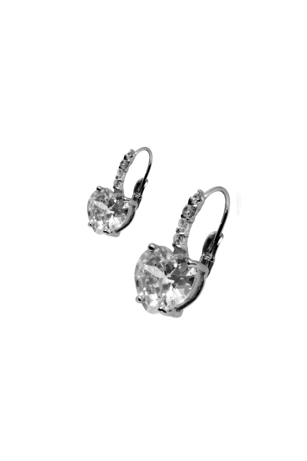 Skalimar Náušnice z chirurgické oceli SRDCE DAIMOND 614071/4