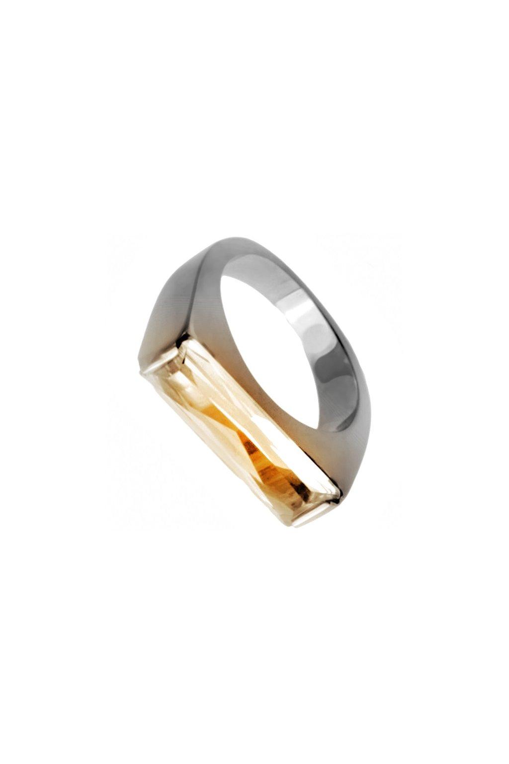 Skalimar Prsten z chirurgické oceli S OKROVÝM ZIRKONEM 212138