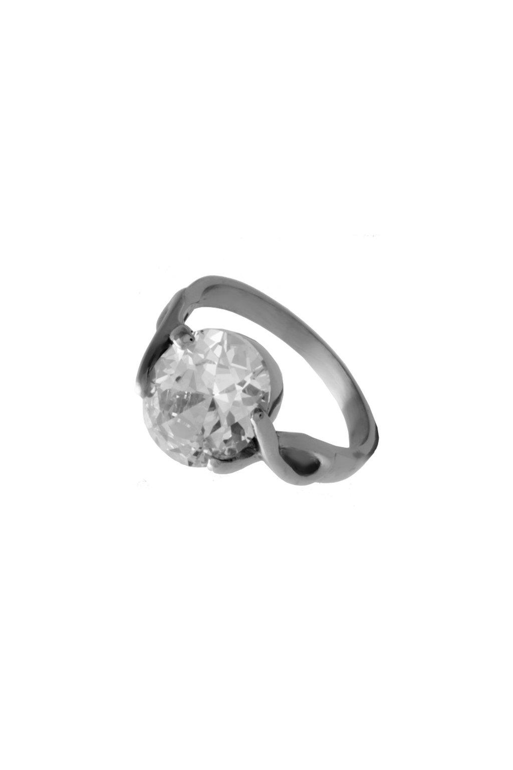 Skalimar Prsten z chirurgické oceli ZIRKON 212189