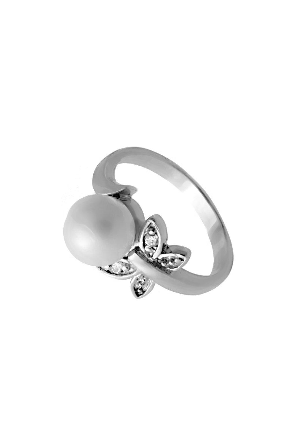Skalimar Prsten z chirurgické oceli S PERLOU 312272