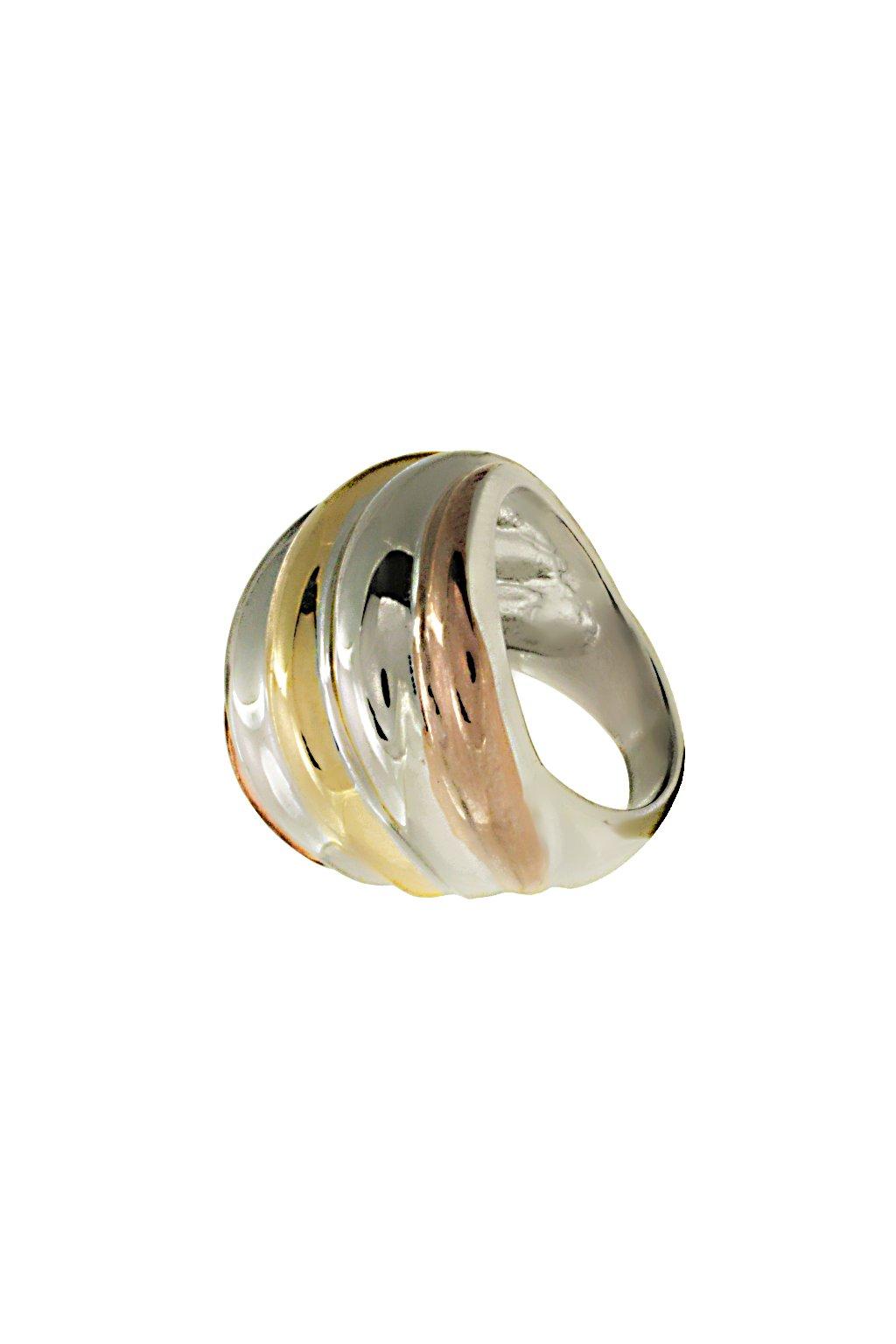 Skalimar Prsten z chirurgické oceli ZLACENÁ ULITA 312595