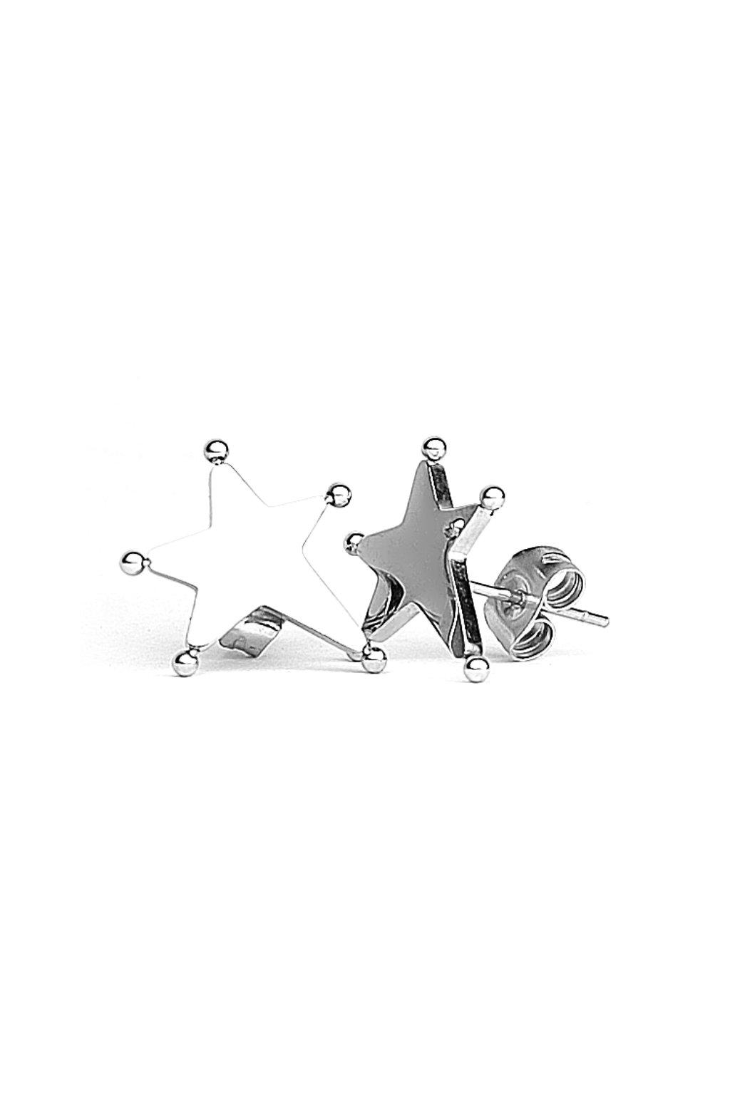 Skalimar Náušnice z chirurgické oceli HVĚZDIČKY 614030