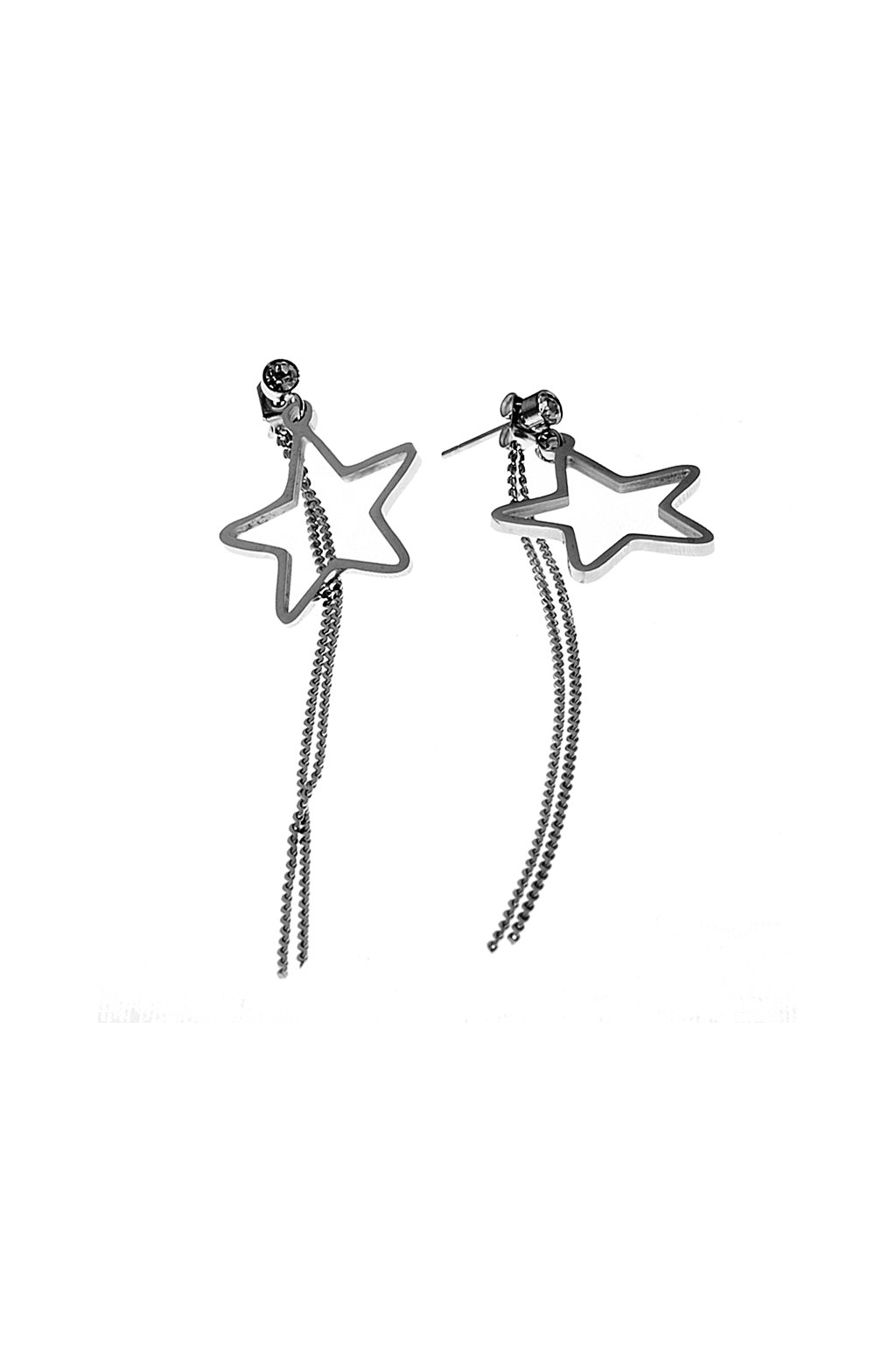 Skalimar Náušnice z chirurgické oceli VISACÍ HVĚZDIČKY 614017/4