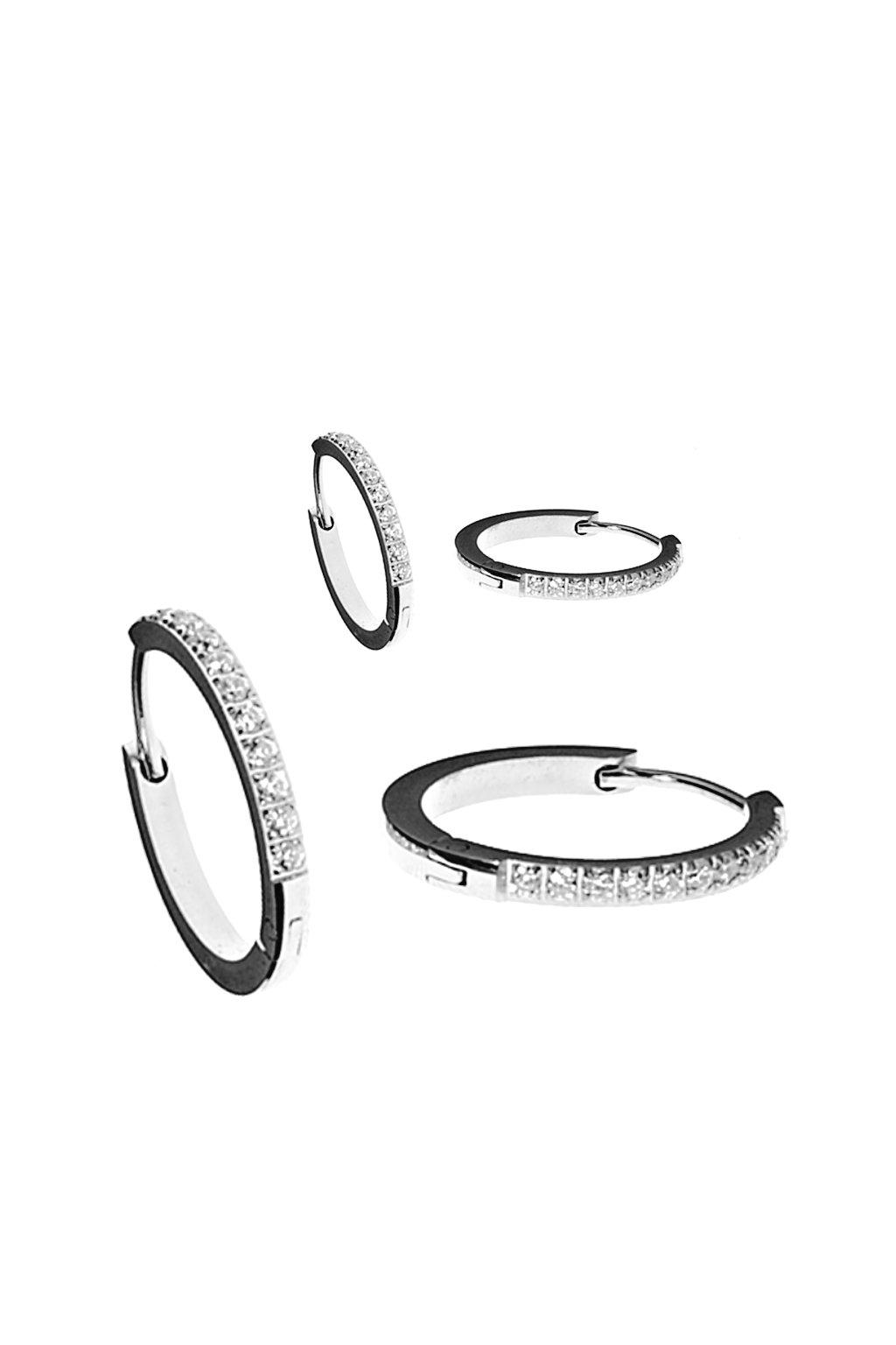 Skalimar Náušnice z chirurgické oceli KROUŽKY LUXURY 45068041