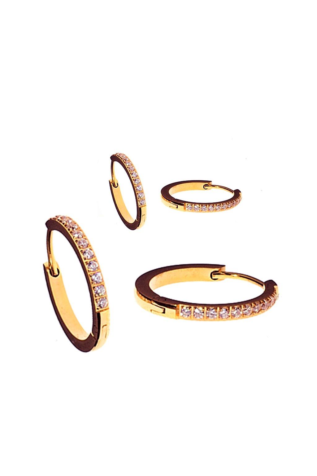 Skalimar Náušnice z chirurgické oceli KROUŽKY LUXURY ROSE GOLD 450068041B