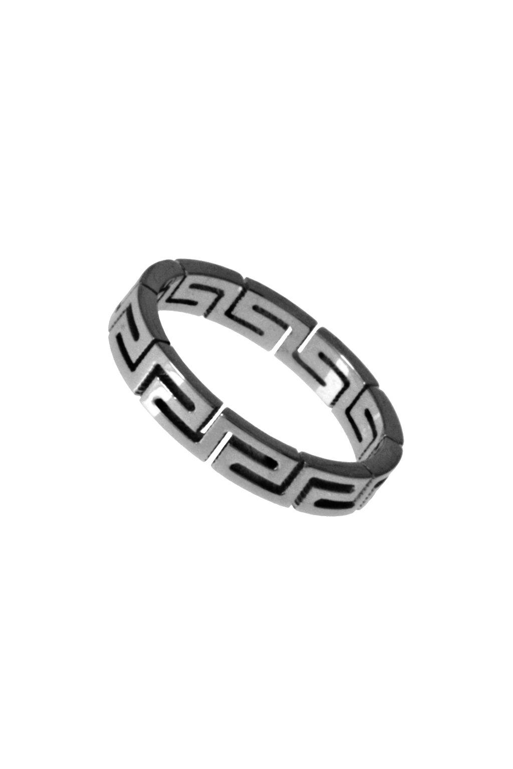 Skalimar Prsten z chirurgické oceli S ŘECKÝM VZOREM 312647