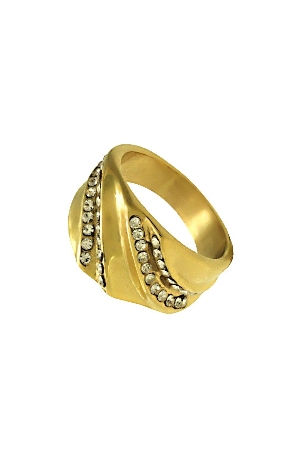 Skalimar Prsten z chirurgické oceli GOLDEN ELEGANCE 312590