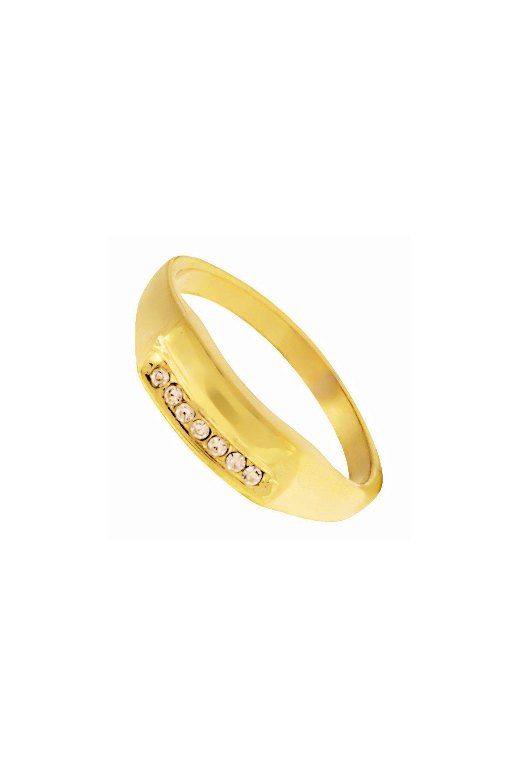 Skalimar Prsten z chirurgické oceli GOLDEN ELEGANCE 312593