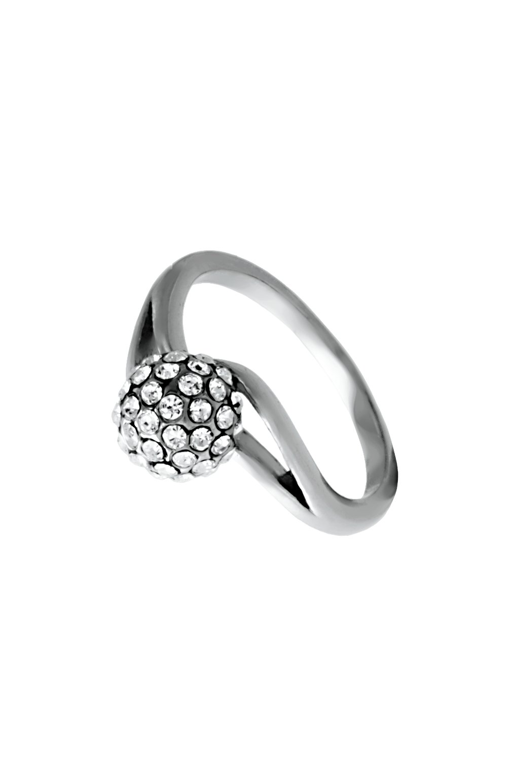 Skalimar Prsten z chirurgické oceli LUXURY CRYSTAL KULIČKA 312575