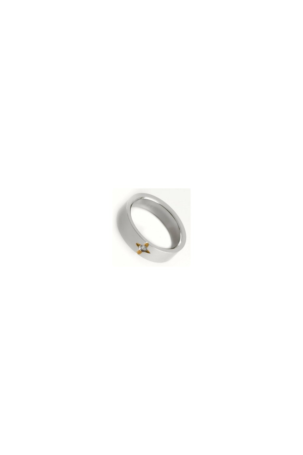 Skalimar Prsten z chirurgické oceli S HVĚZDOU A ZIRKONEM 212015