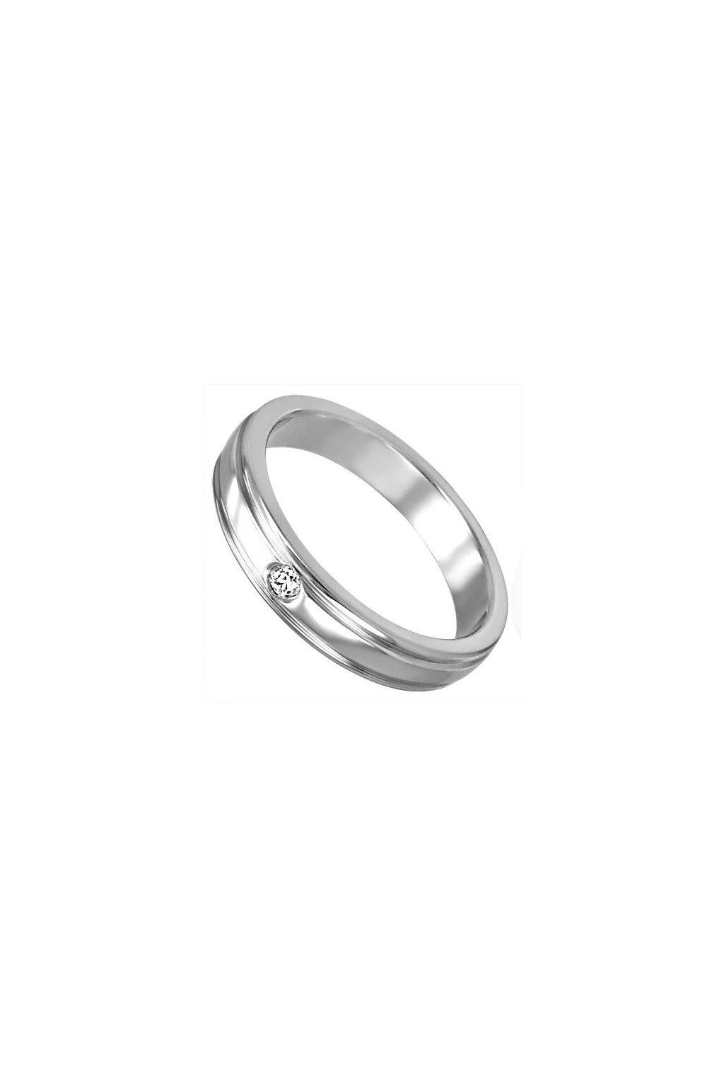 Skalimar Prsten z chirurgické oceli  KROUŽEK SE ZIRKONEM 212061