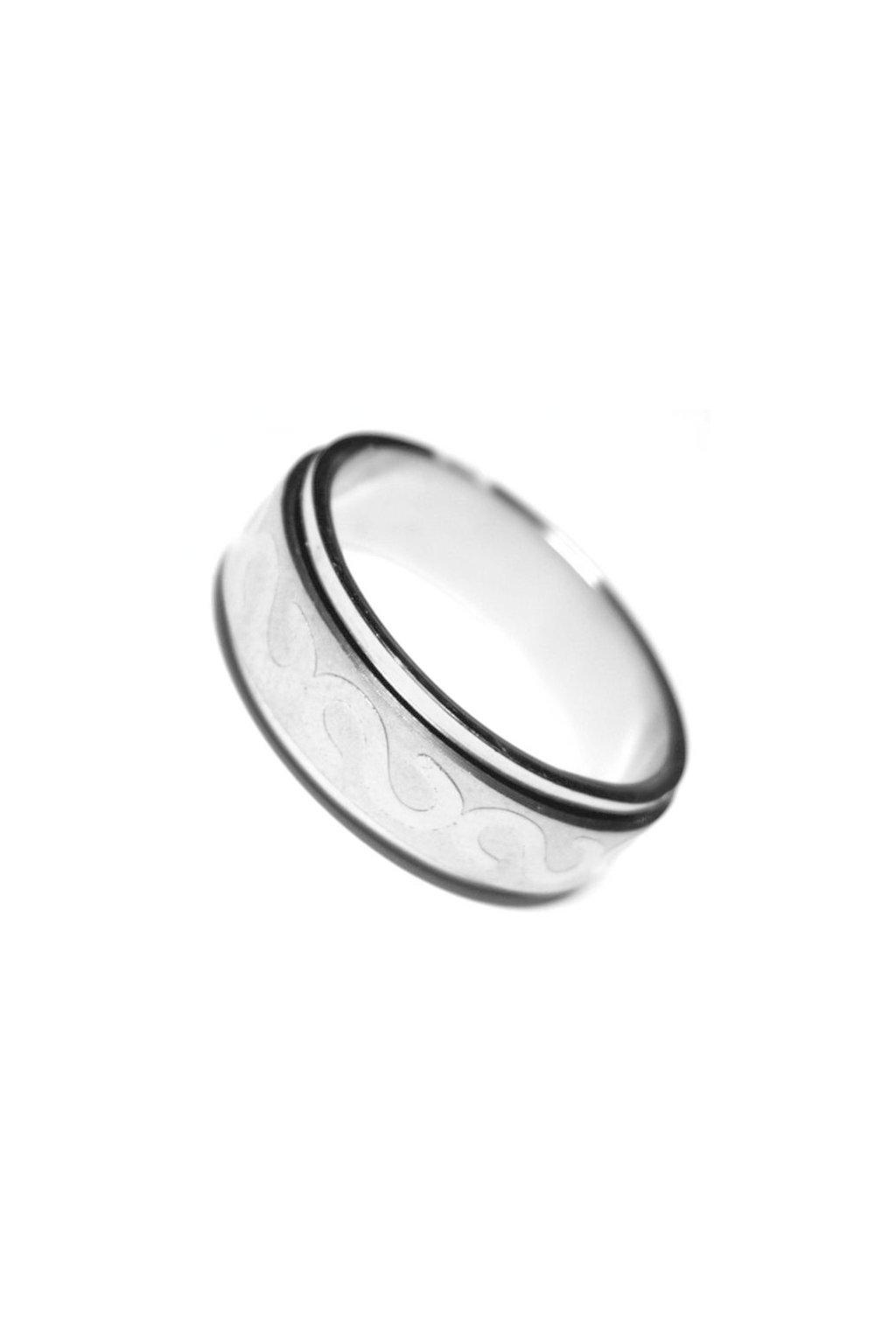 Skalimar Prsten z chirurgické oceli KROUŽEK S ORNAMENTEM  212081