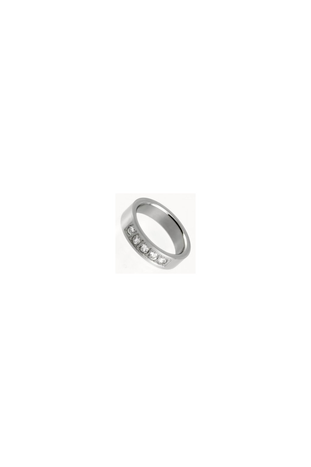 Skalimar Prsten z chirurgické oceli KROUŽEK S PĚTI KŘIŠŤÁLKY 212090