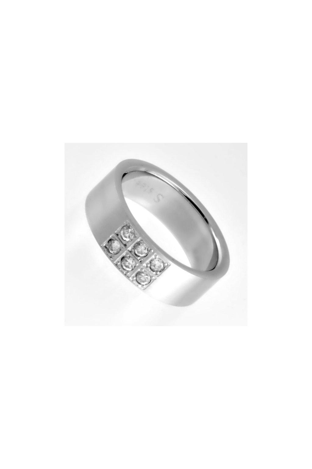 Skalimar Prsten z chirurgické oceli S KAMÍNKY 212100
