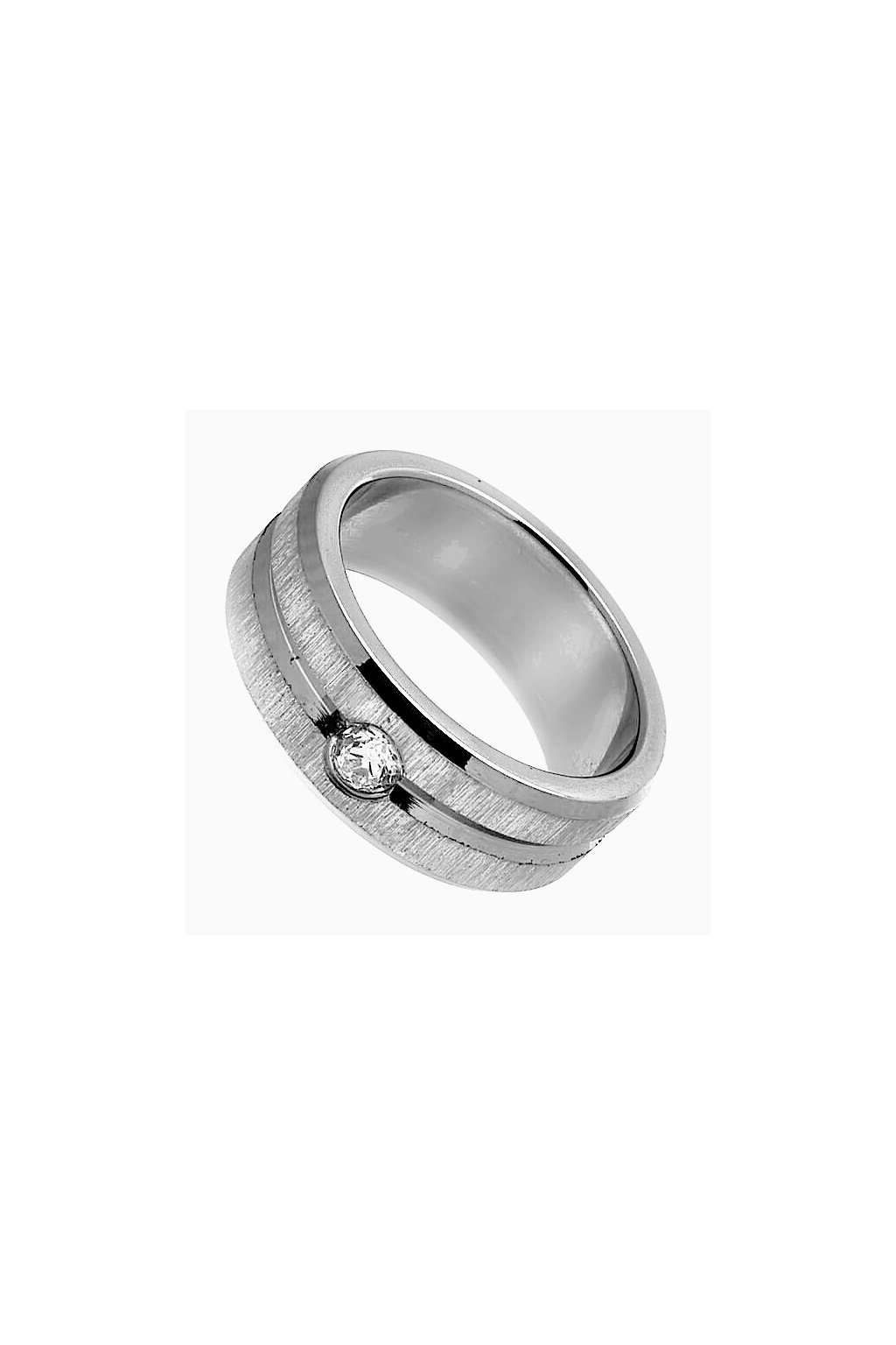 Skalimar Prsten z chirurgické oceli S MATNÝM BRUSEM A DROBNÝM ZIKRONEM 212117