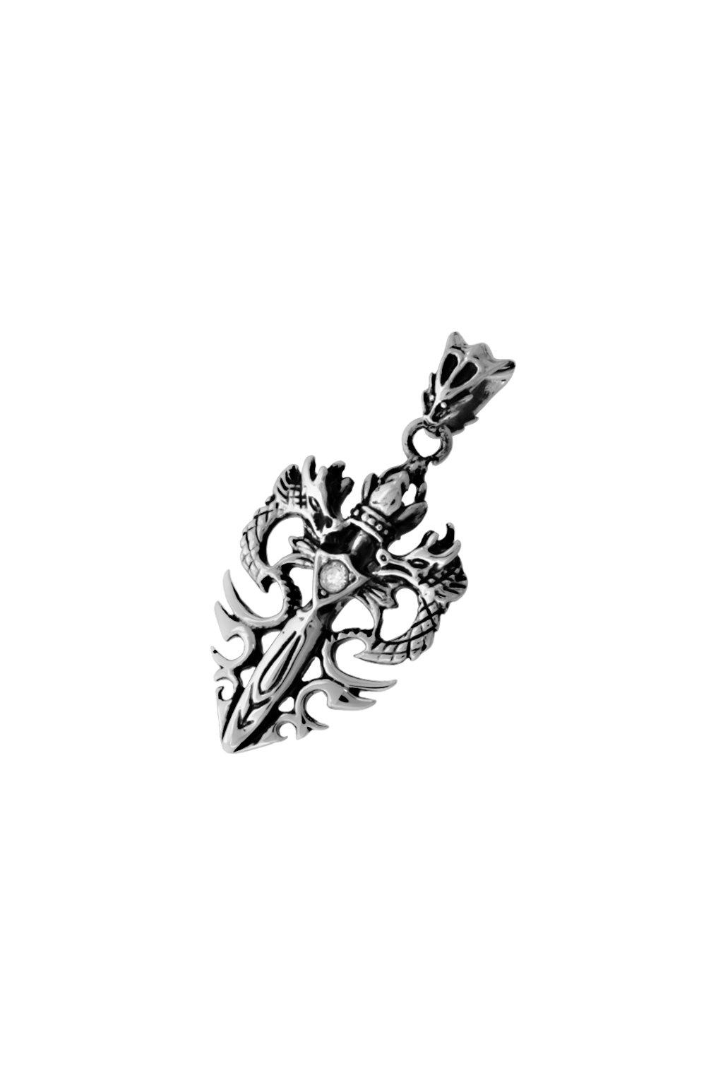 Skalimar Přívěsek z chirurgické oceli DRAČÍ SRDCE 313574