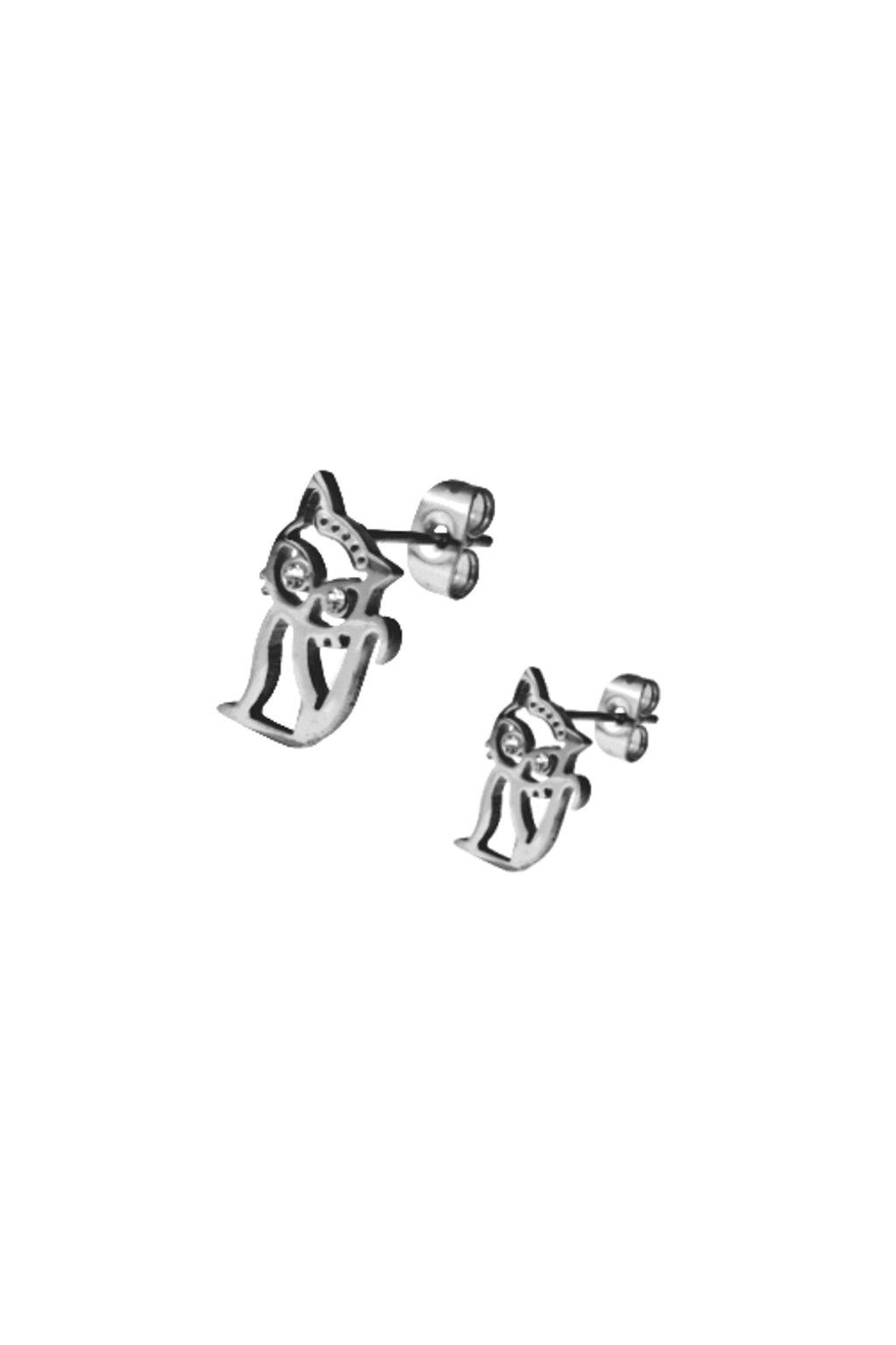 Skalimar Náušnice z chirurgické oceli KOČKY FANNY 41005105