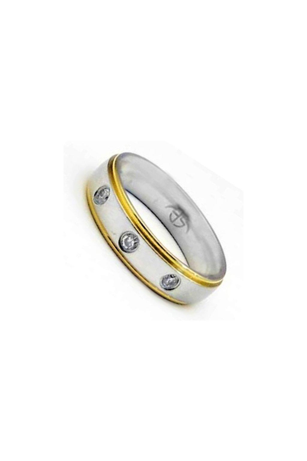 Skalimar Prsten z chirurgické oceli TRIO 312426