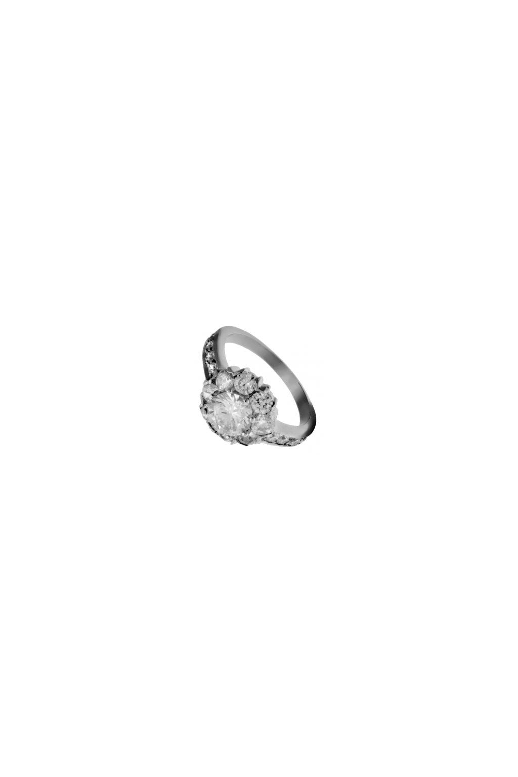 Skalimar Prsten z chirurgické oceli KŘIŠŤÁLOVÁ KYTKA 312544