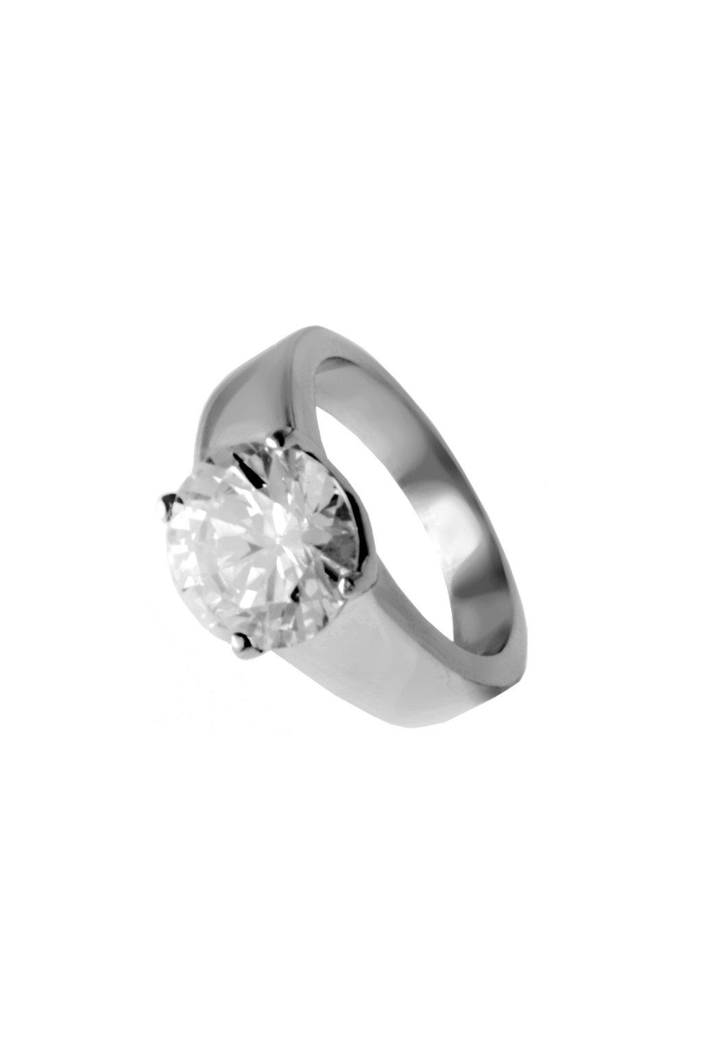 Skalimar Prsten z chirurgické oceli S KŘIŠŤÁLKEM 312557