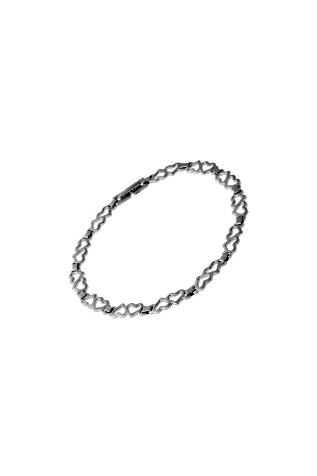 Skalimar Náramek z chirurgické oceli SRDÍČKA 311388