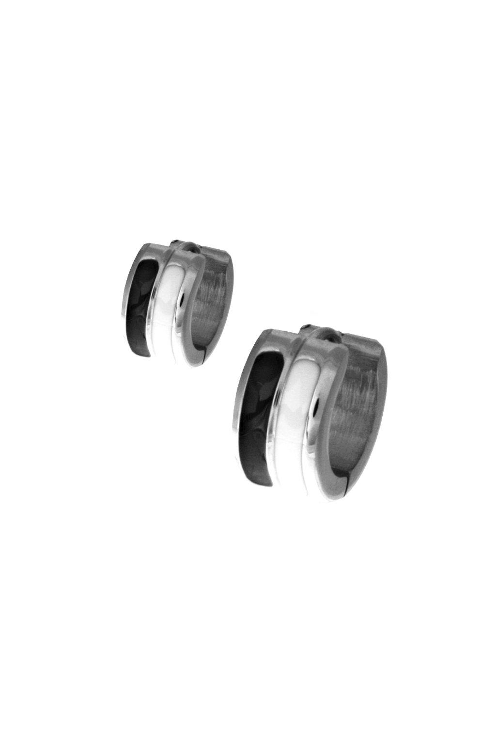 Skalimar Náušnice z chirurgické oceli KRUHY SMALT 314989/2