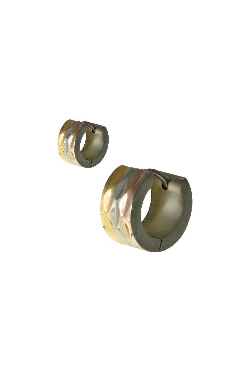 Skalimar Náušnice z chirurgické oceli KRUHY BRONZOVÉ 614014