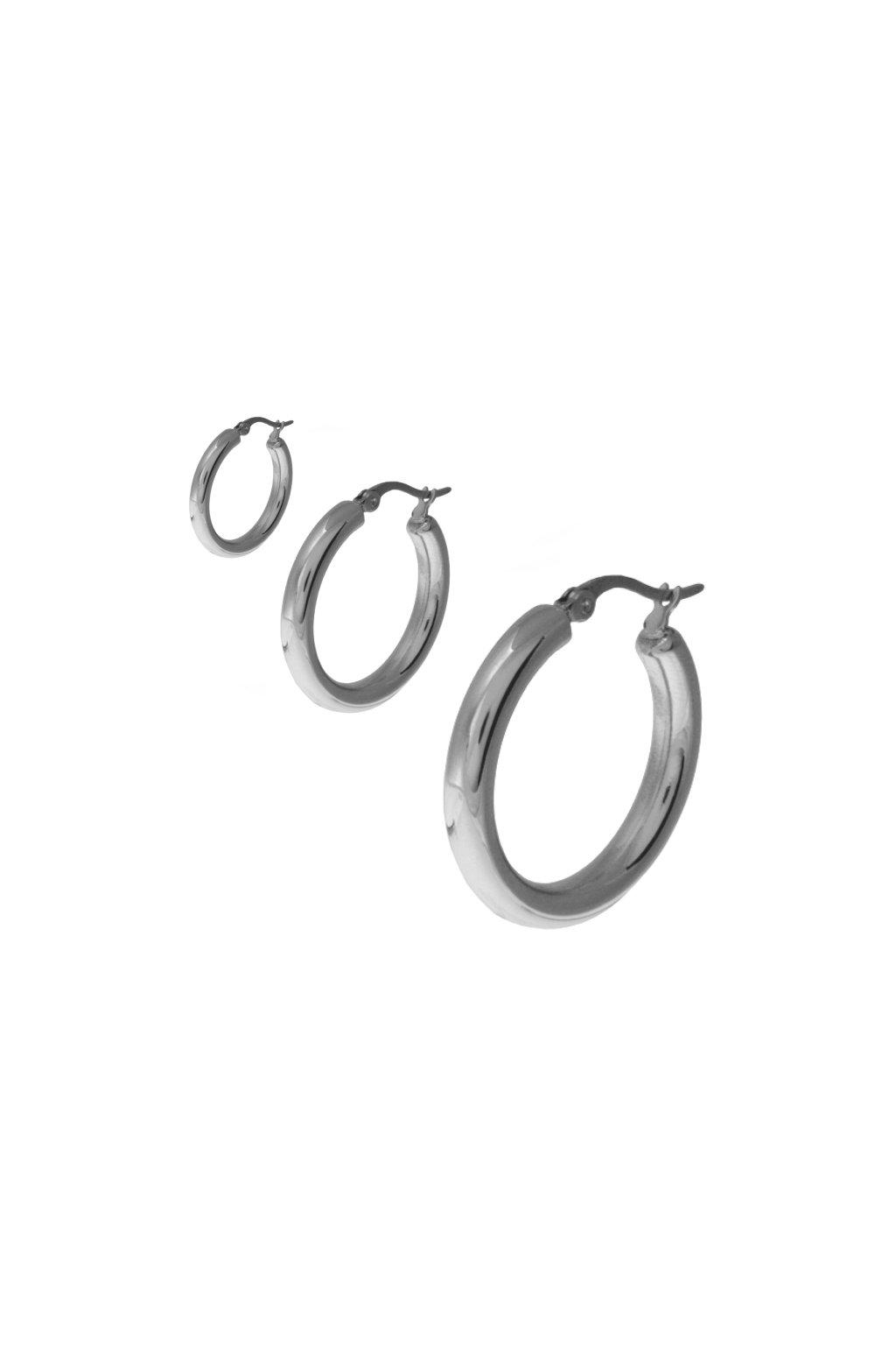 Skalimar Náušnice z chirurgické oceli KRUHY 46004503