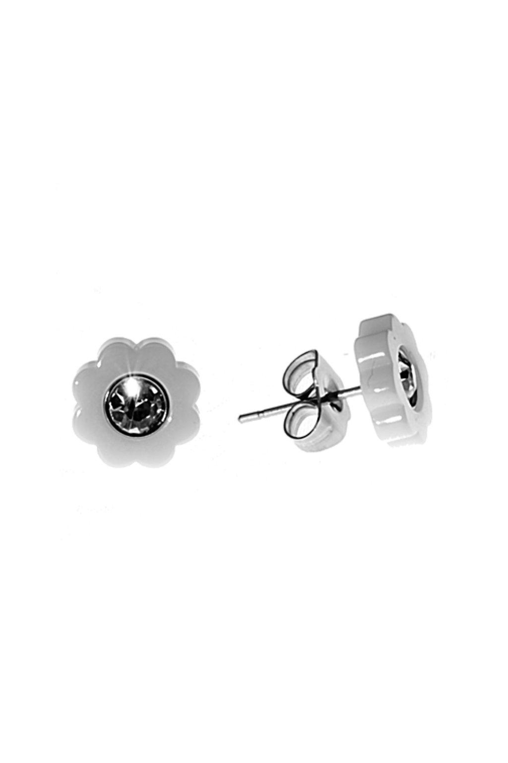 Skalimar Náušnice z chirurgické oceli KERAMICKÉ KYTIČKY 41005704