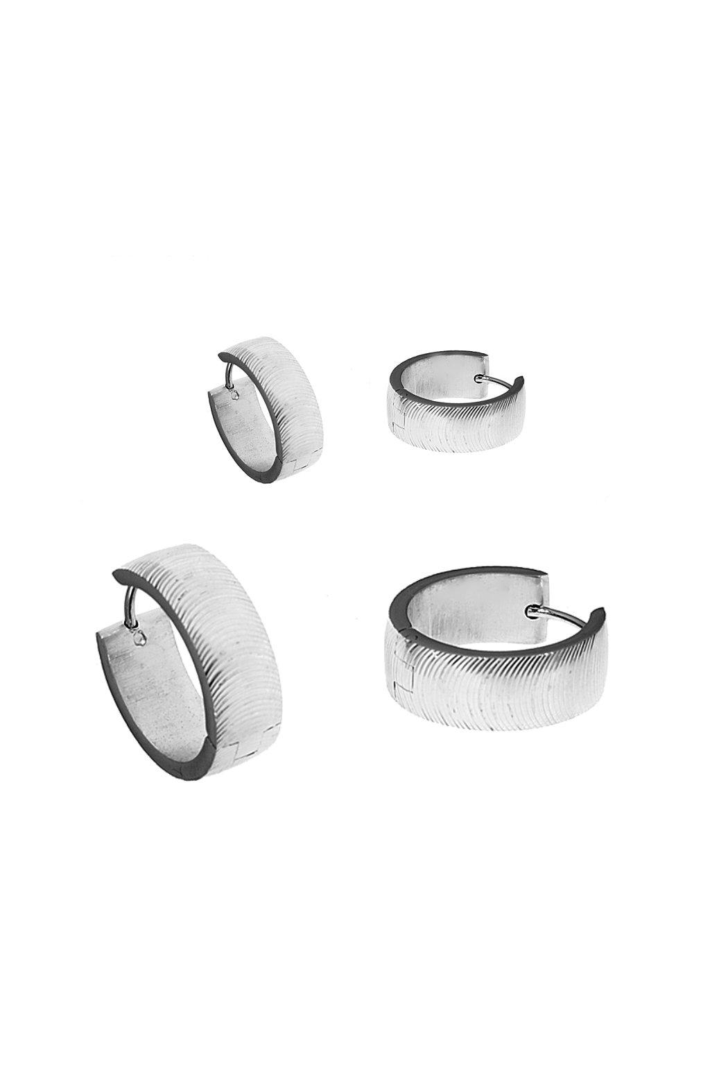 Skalimar Náušnice z chirurgické oceli KRUHY PURE ELEGANCE 45007206
