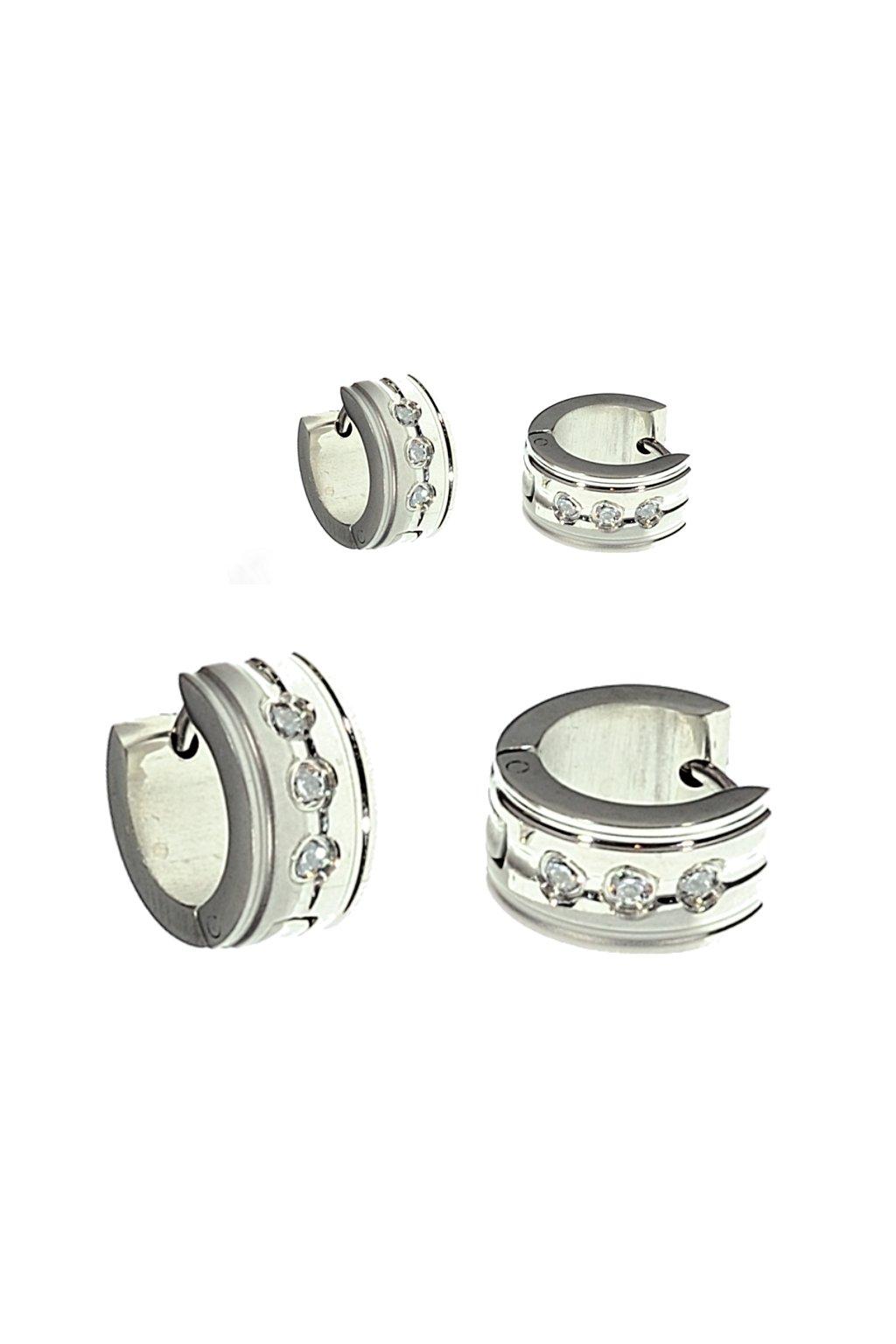 Skalimar Náušnice z chirurgické oceli KROUŽKY 45003204