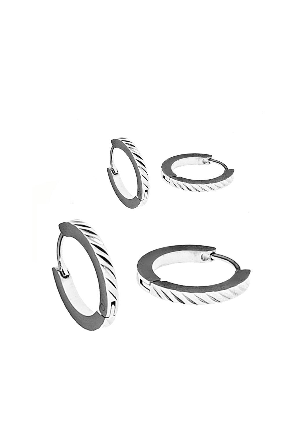 Skalimar Náušnice z chirurgické oceli KROUŽKY 45005905