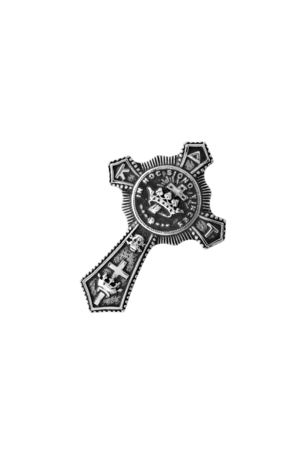 Skalimar Přívěsek z chirurgické oceli KŘÍŽ S KORUNKOU 313571