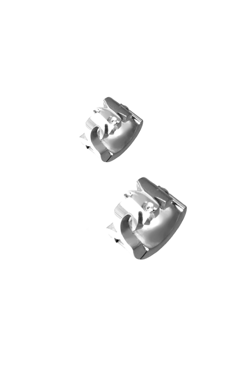 Skalimar Náušnice z chirurgické oceli KROUŽKY DELFÍNEK 61402404