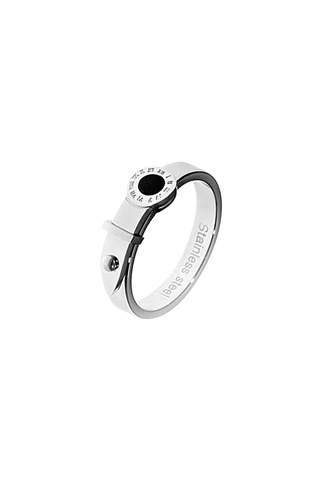 Skalimar Prsten z chirurgické oceli ŘÍMSKÝ ČÍSELNÍK S PERLETÍ 23900204