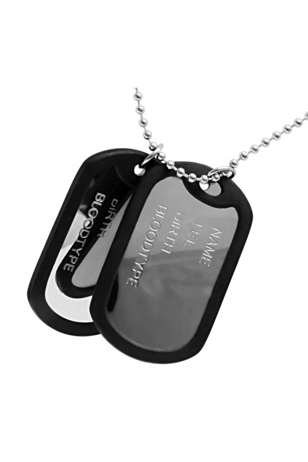 Skalimar Náhrdelník z chirurgické oceli DOG TAG - identifikační známky 32002004