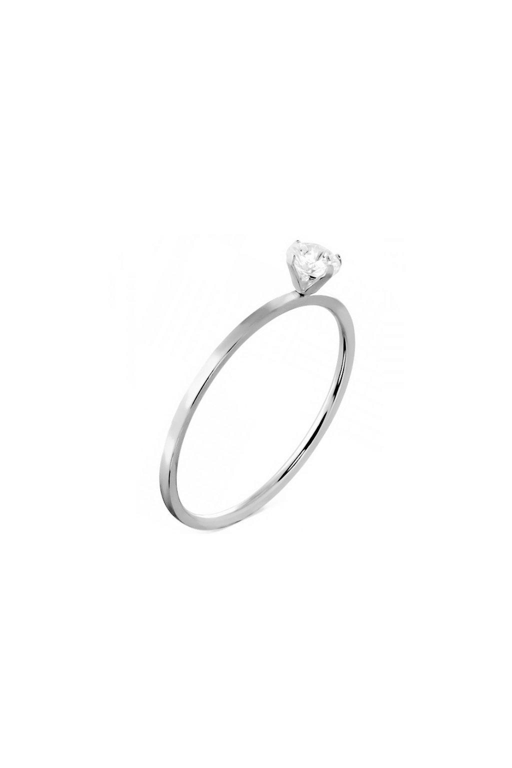 Skalimar Prsten z chirurgické oceli CLASSIC S KULATÝM ZIRKONEM 22989925