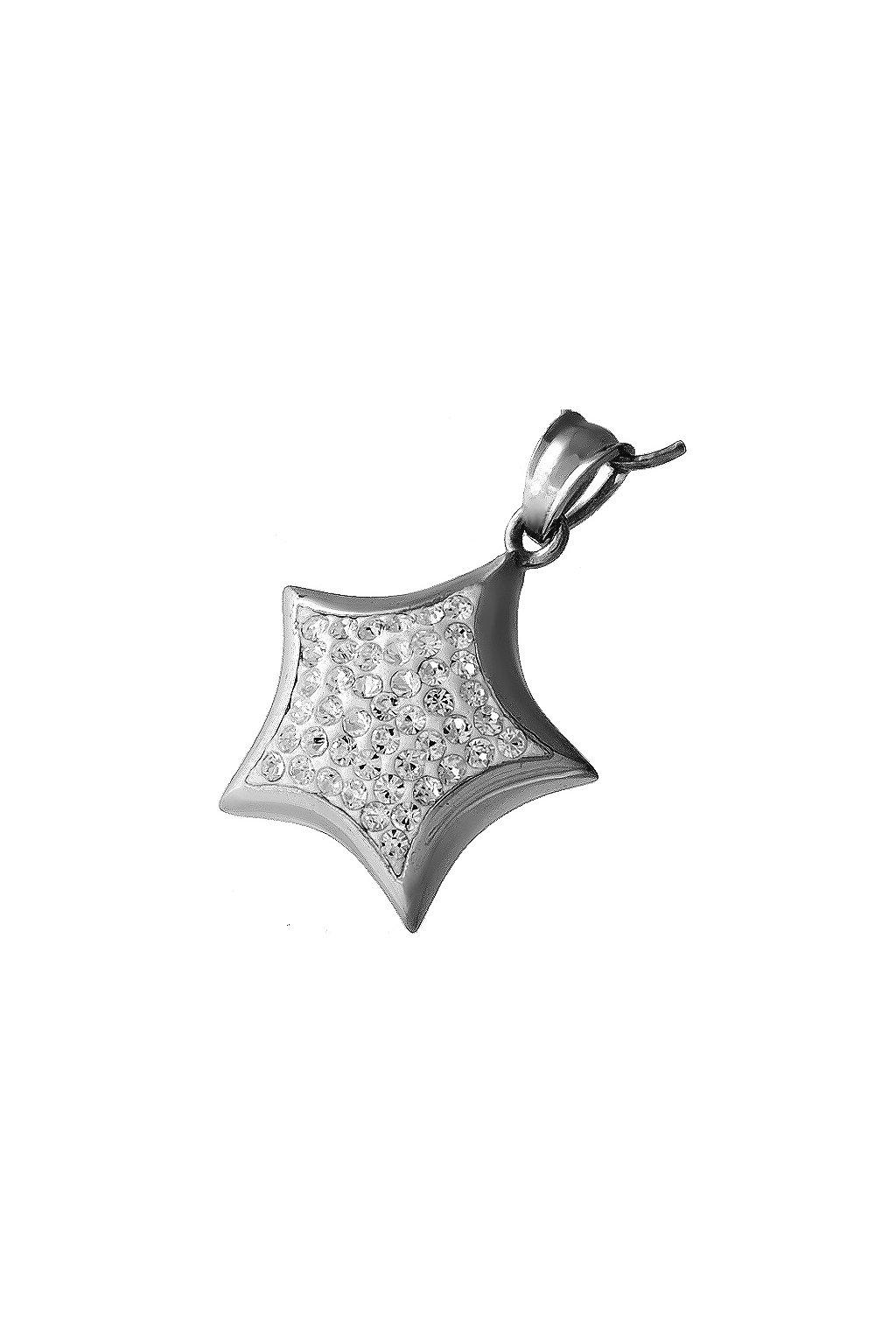 Skalimar Přívěsek z chirurgické oceli HVĚZDIČKA CRYSTAL 313487