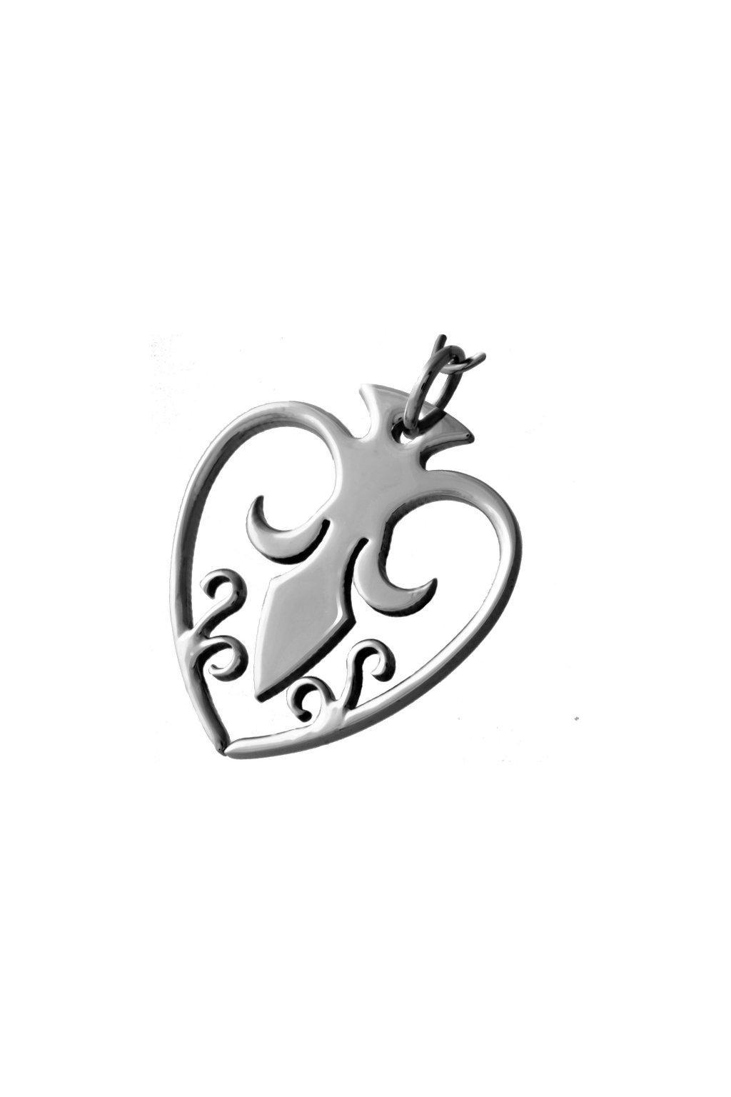 Skalimar Přívěsek z chirurgické oceli ELEGANTNÍ SRDÍČKO 313415