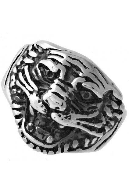 Skalimar Prsten z chirurgické oceli TYGŘÍ HLAVA 312476
