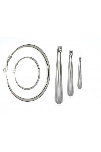 Náušnice z chirurgické oceli KRUHY SIMPICITY
