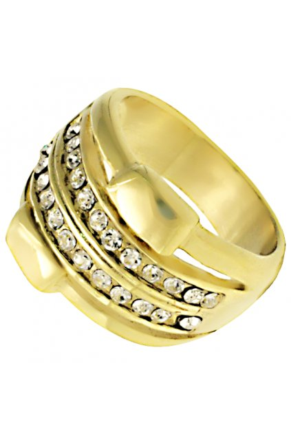 Skalimar Prsten z chirurgické oceli GOLDEN ELEGANCE 312591