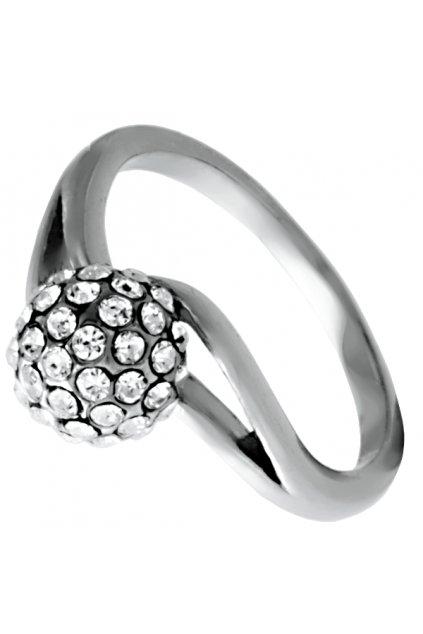 Prsten z chirurgické oceli LUXURY CRYSTAL KULIČKA