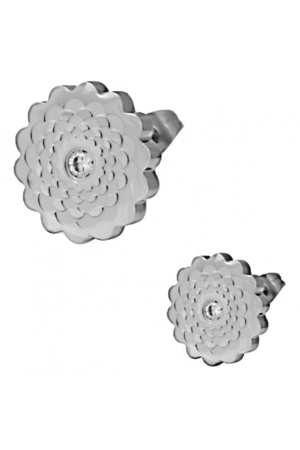 Skalimar Náušnice z chirurgické oceli FLOWER 314723