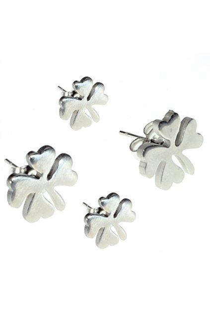 Skalimar Náušnice z chirurgické oceli ČTYŘLÍSTEK 41006802